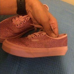 Pink glitter vans